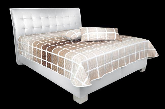 Blanář Postel Sara 180x200 s úložným prostorem, písty, White - 2ks skladem (bez matrací i s volitelnými matracemi)