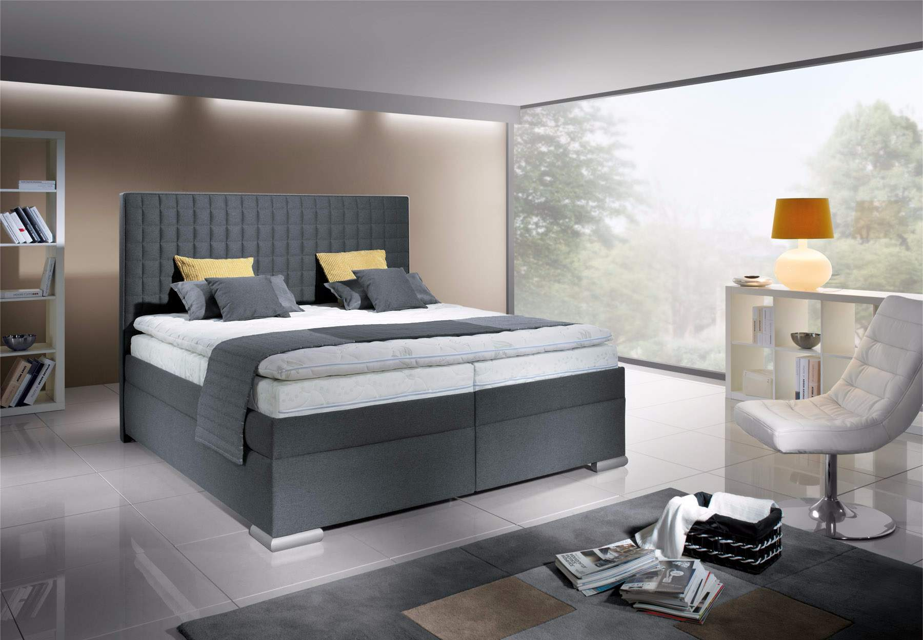 New Design Boxspring Rialto 180x200 šedý
